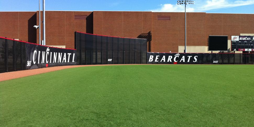 Baseball Dugout Fence Screen : Windscreen digitally printed bigsigns